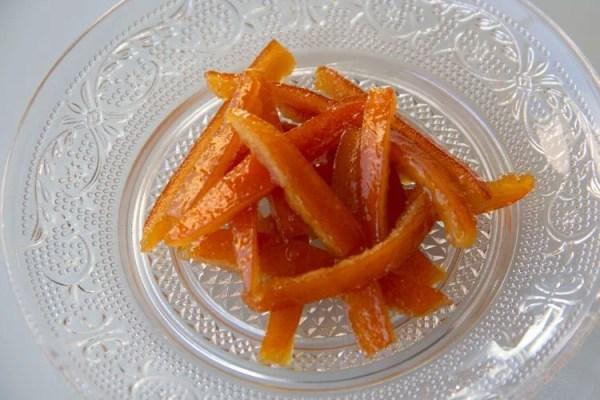 Écorces d'oranges confites maison