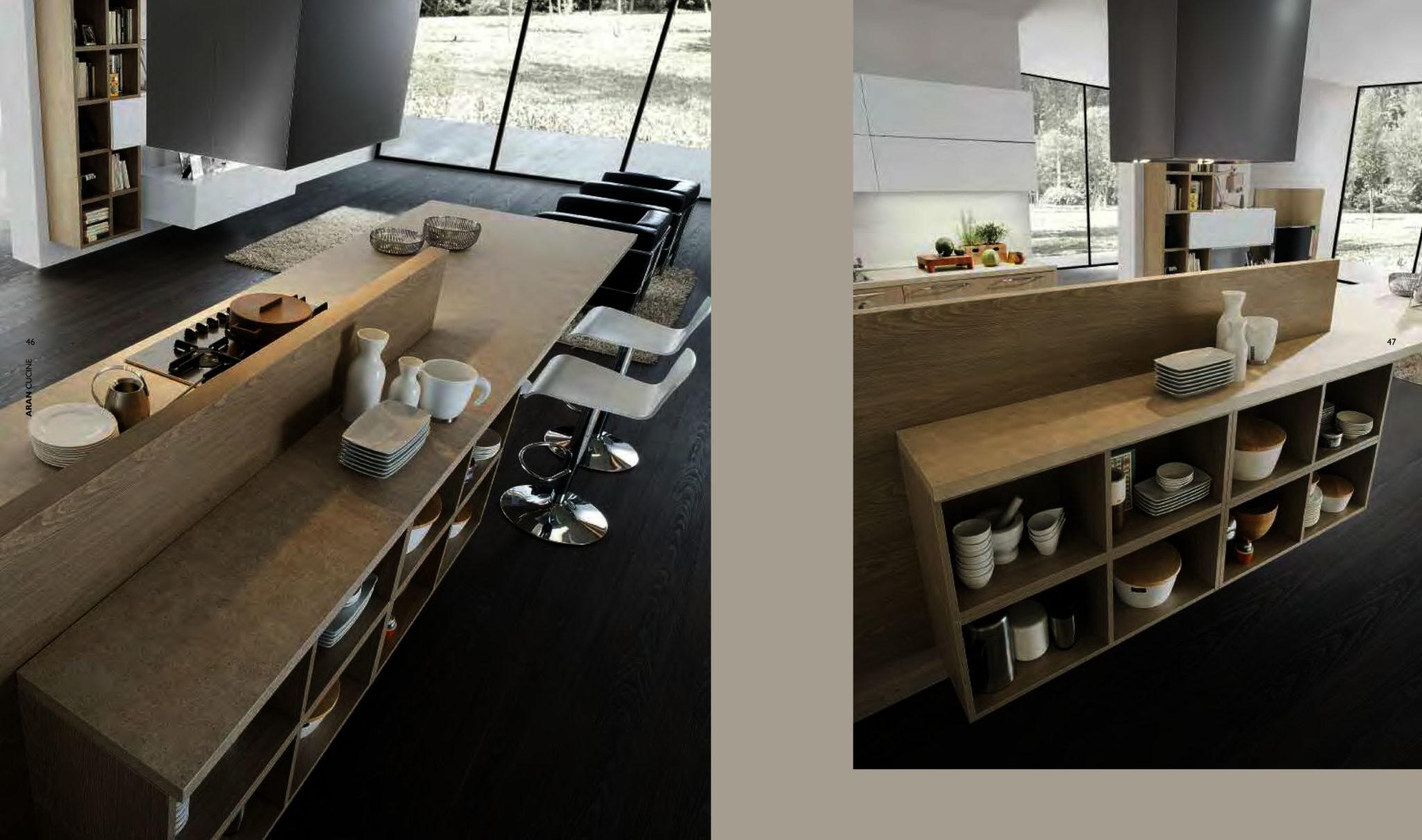 La cucina ad isola lineatre arredamenti alberobello for Cucine con piano cottura centrale