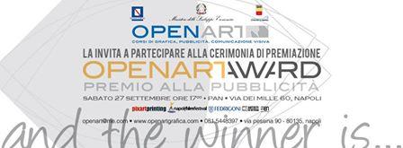 Domani 27 Settembre alle ore 17.00 Al PAN Napoli OpenArt Award..
