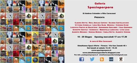 Spazioporpora a Firenze/ Mostra collettiva a cura di Rita Caracausi
