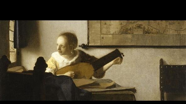 Vermeer, la suonatrice di liuto a Napoli