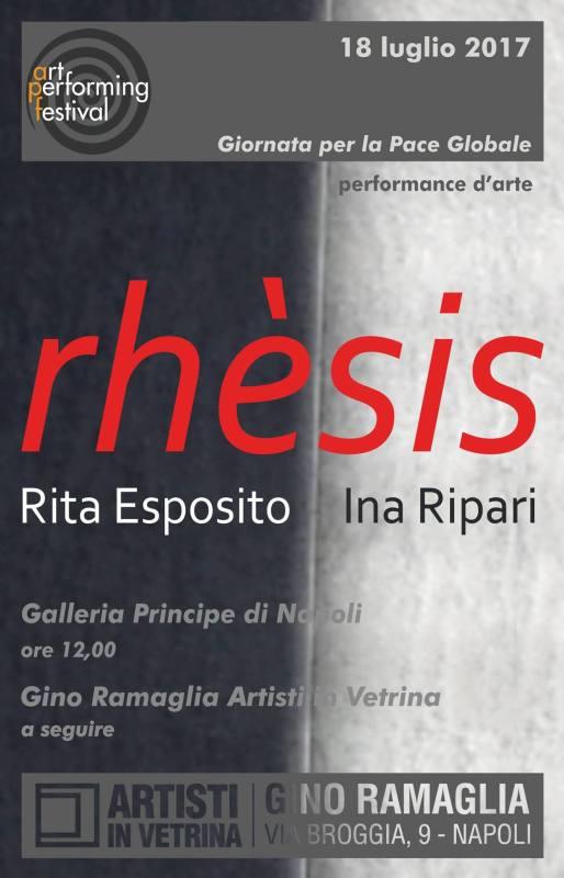 RHESIS_ performance d'arte di Rita Esposito e Ina Ripari