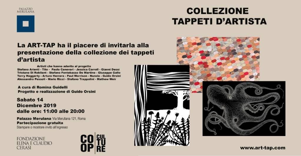 rid.Invito ART-TAP 14 DICEMBRE Palazzo Merulana, Roma