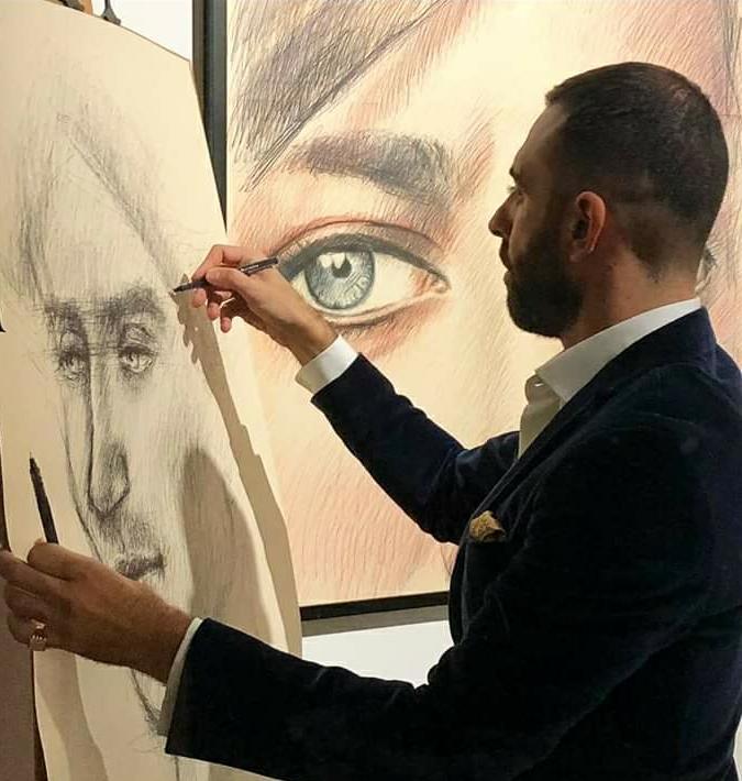 Artista Roberto Di Costanzo live drawing