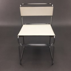 Chaise cuir blanc Marcel Breuer pour Standard Mobel