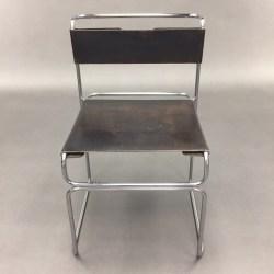 Chaise cuir noir Marcel Breuer pour Standard Mobel