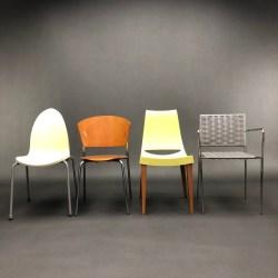 Lot de 4 chaises design 80-90 dépareillées