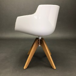 Flow slim chair pivotant Jean-Marie Massaud MDF Italia