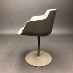 Flow slim chair pivotant pied tulipe Jean-Marie Massaud MDF Italia