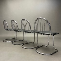 Lot de 4 chaises Gastone Rinaldi & Giotto Stoppino
