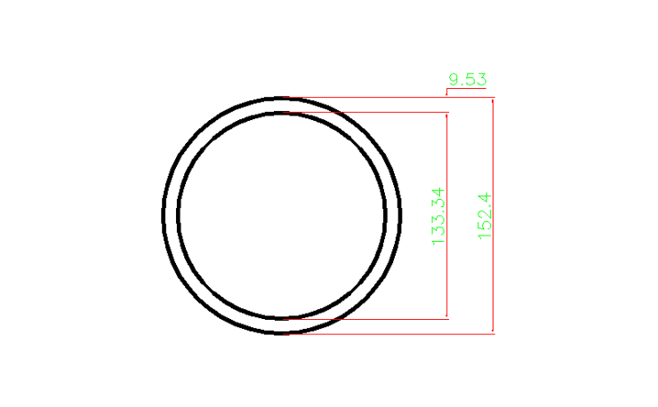 Steel Pipe (HA) In dwg file format for AutoCAD and other 2D Software