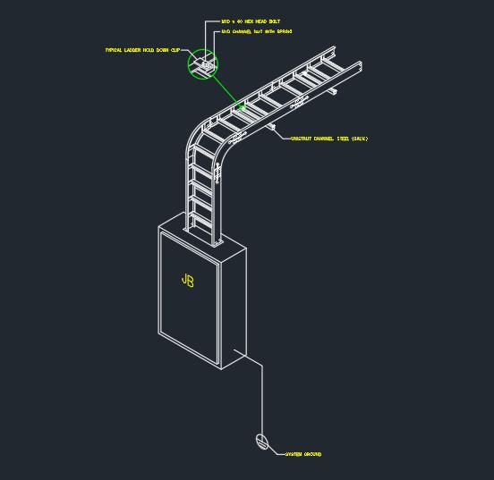 Cable Tray Installation Free Cad Block Symbols And Cad