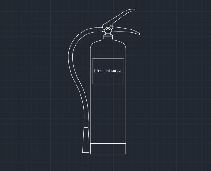 Fire Extinguisher Dry Chemical Autocad Free Cad Block Symbols