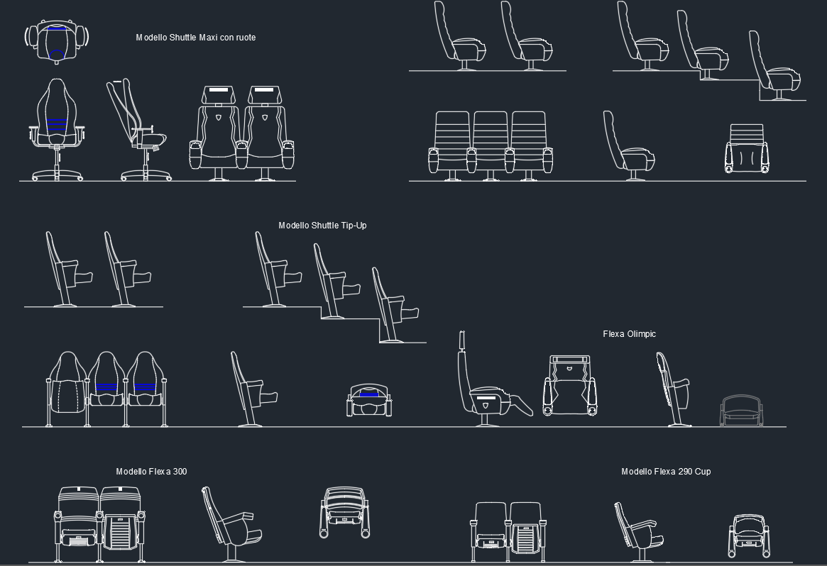 Auditorium Armchairs Autocad Free Cad Block Symbol And