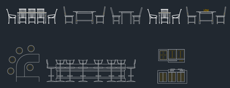 Dining Tables Elevation