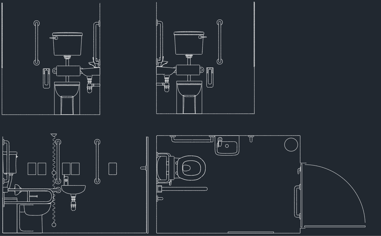 toilet drawing. Disabled Toilet  Free CAD Block And AutoCAD Drawing