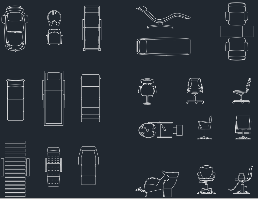 Office chair autocad block - Free Cad Block And Autocad Drawing
