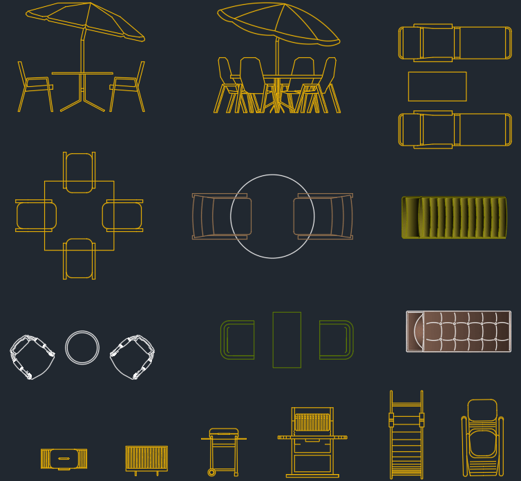 Outdoor Furniture CAD Blocks Free CAD Block And