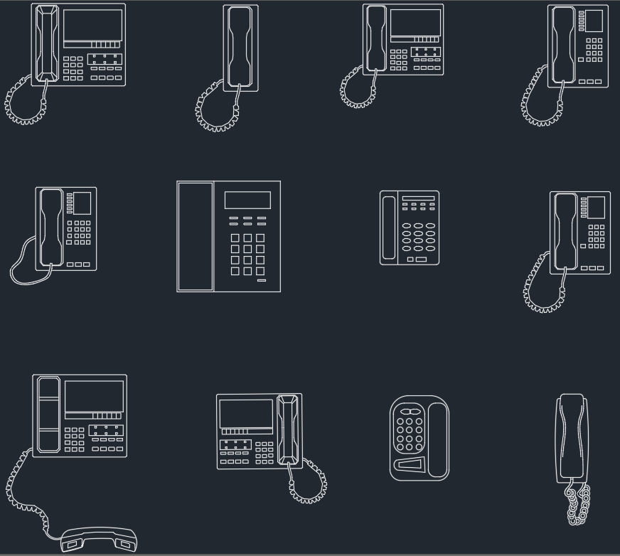 Phones Cad Blocks Free Cad Block Symbols And Cad Drawing