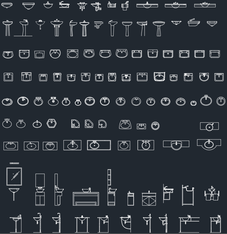 Sinks CAD Blocks | | AutoCAD Free CAD Block Symbol And CAD Drawing