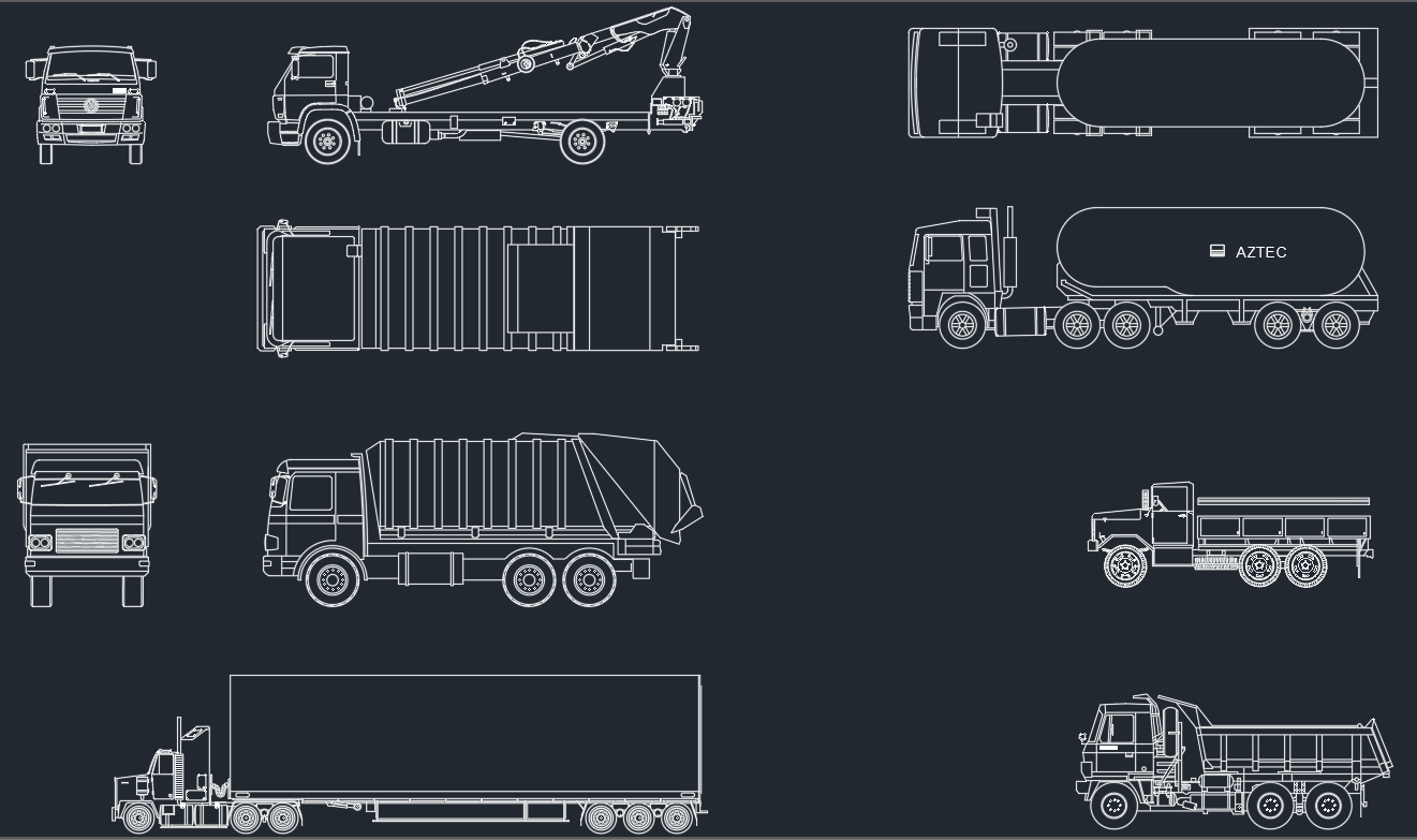Trucks cad blocks free cad block and autocad drawing for Online autocad drawing