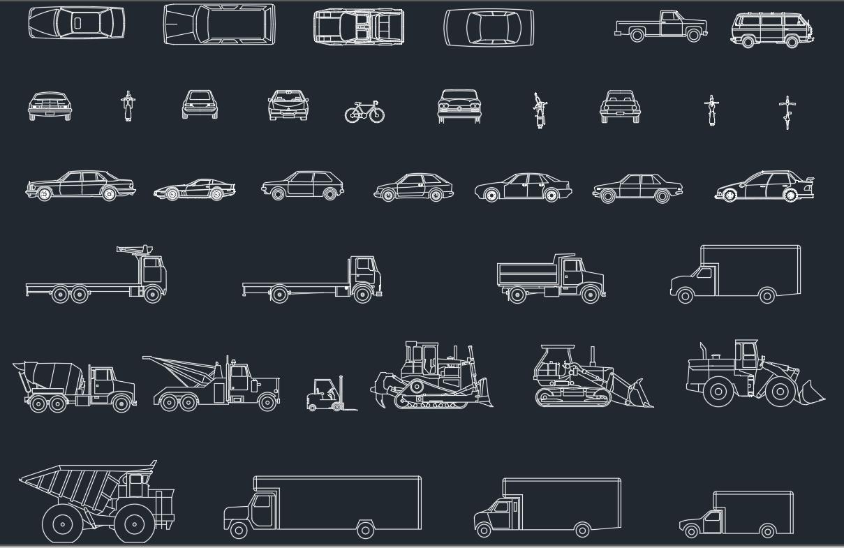 Vehicles CAD Blocks