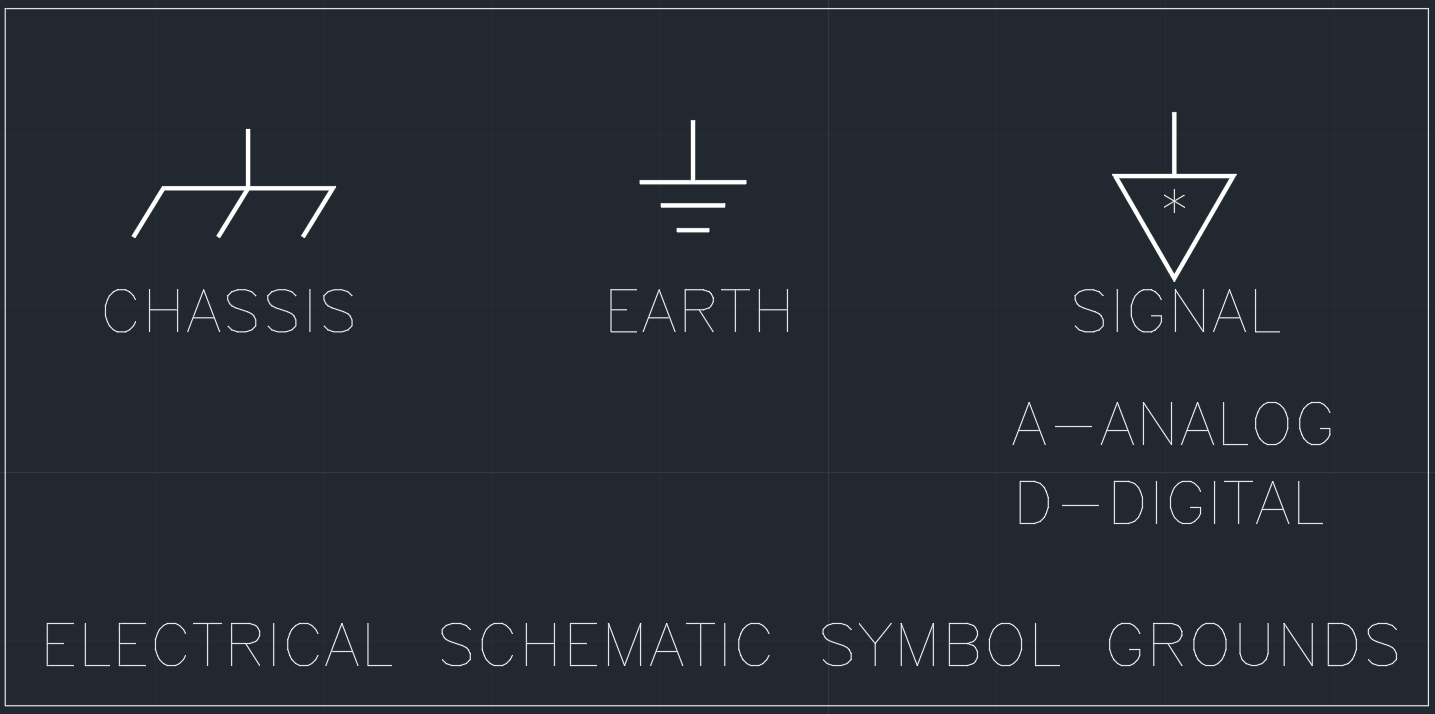 Electrical Schematic Symbol Grounds Autocad Free Cad Block Symbols And Drawing