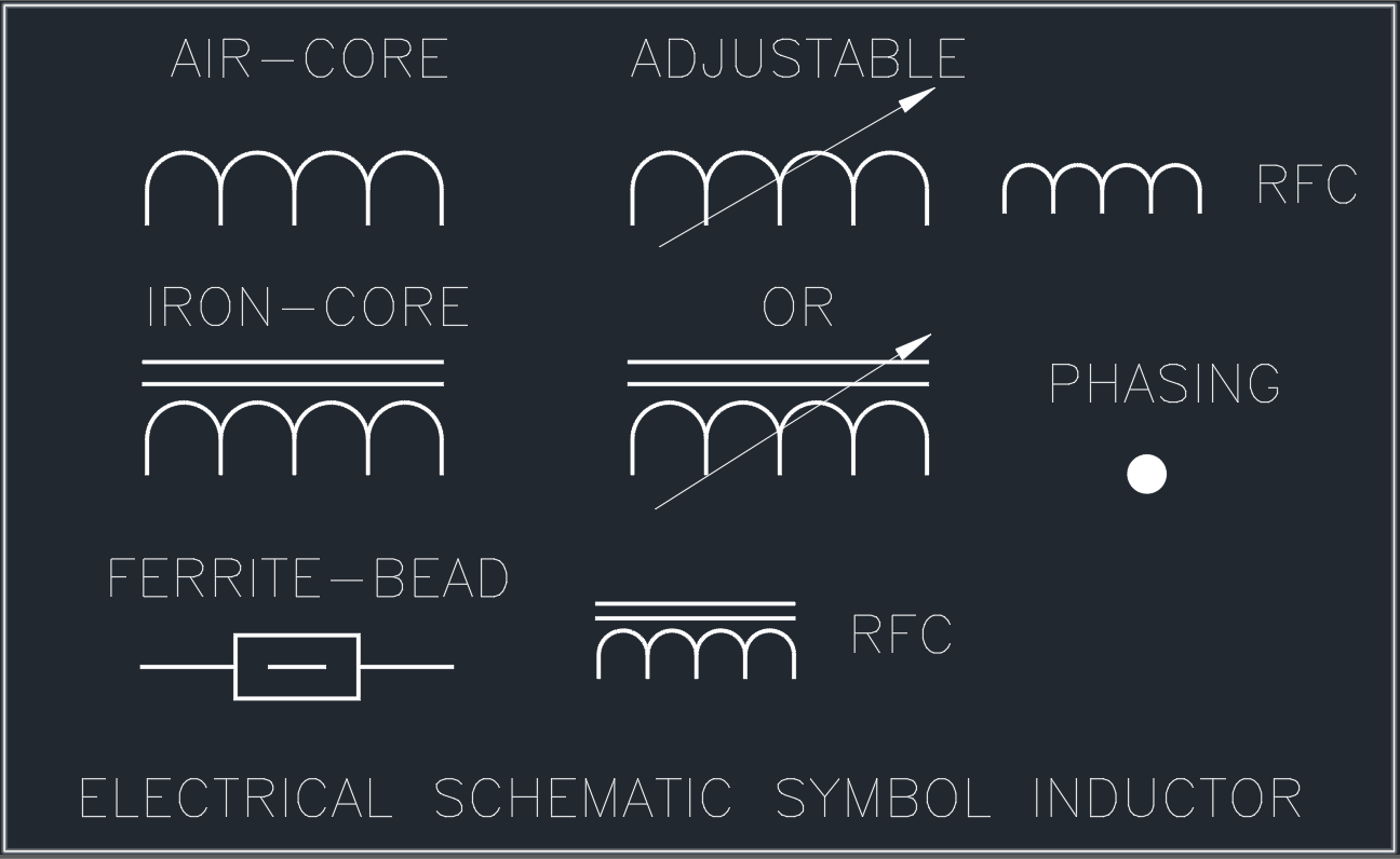 Electrical Schematic Symbol Inductor | | Free CAD Blocks And CAD Drawing