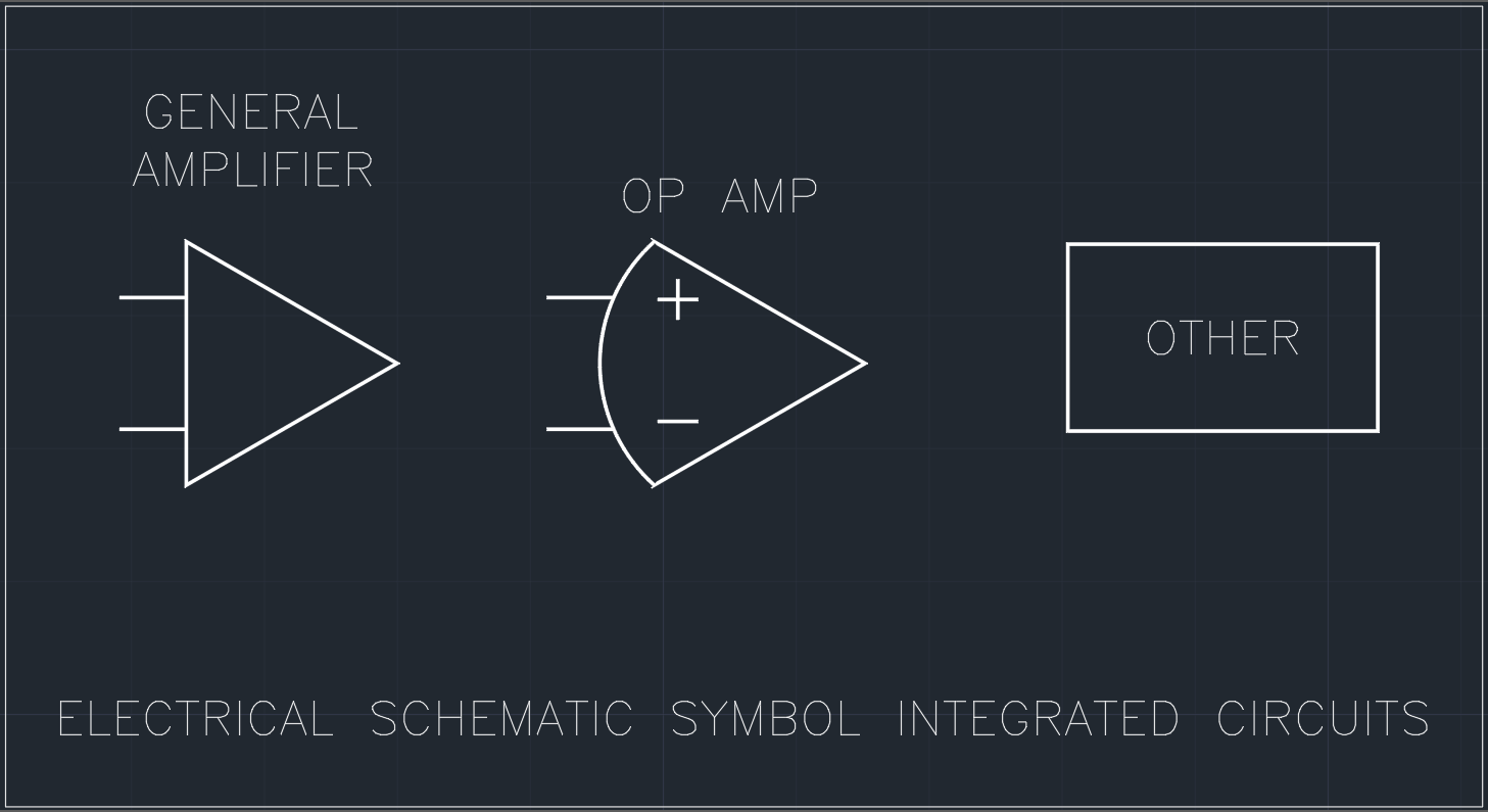 Electrical Schematic Symbol Integrated Circuits | | AutoCAD Free CAD ...