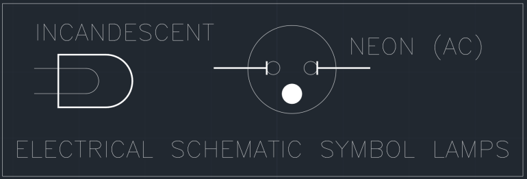 Electrical Schematic Symbol Lamps