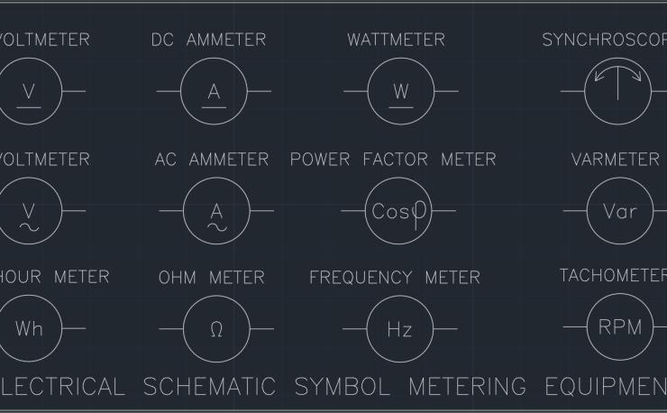 Electrical Schematic Symbol Metering Equipment