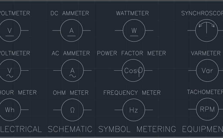 Meter Symbol | | AutoCAD Free CAD Block Symbol And CAD Drawing