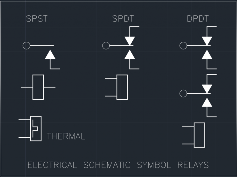 Electrical Schematic Symbol Relays