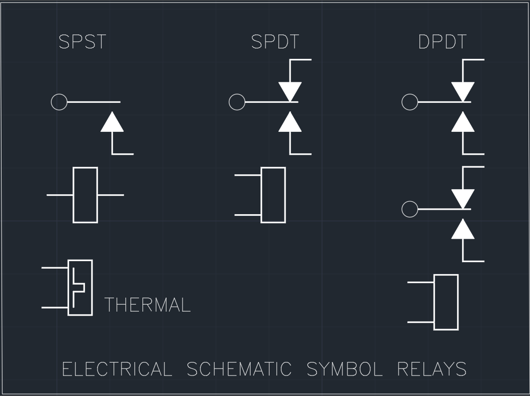 Relay Schematic Symbols - Schematics Wiring Diagrams •