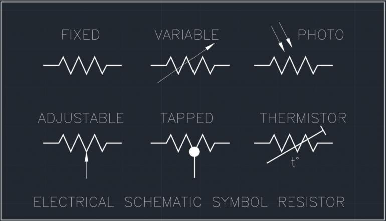 Electrical Schematic Symbol Resistor
