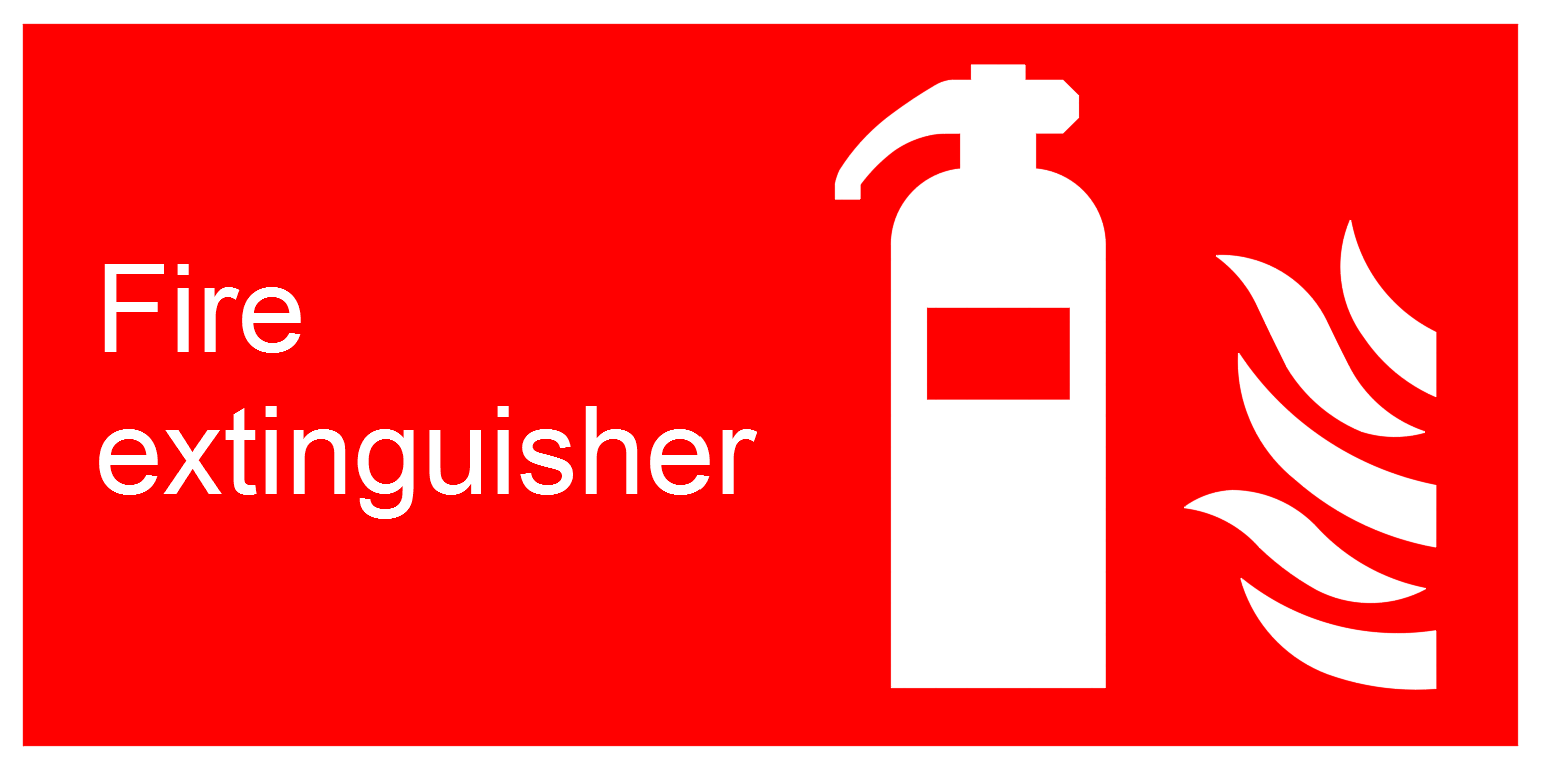Fire Extinguisher Signs | | CAD Block And Typical Drawing