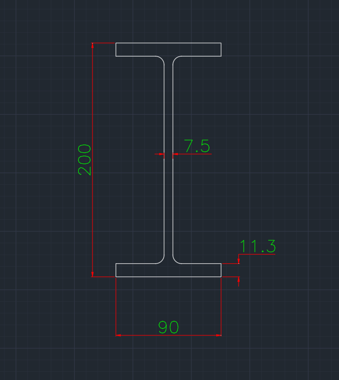 Wide Flange German (I) In dwg file format for AutoCAD and other 2D Software