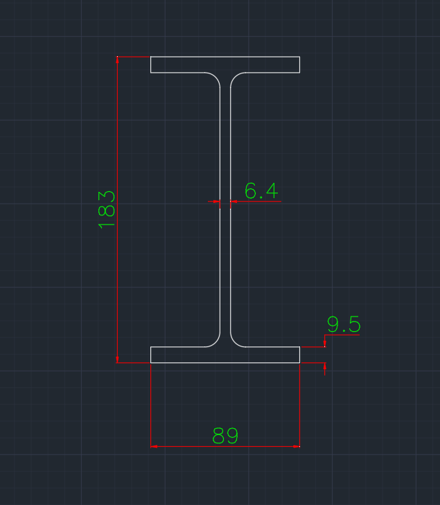 Wide Flange European (IPE-R) In dwg file format for AutoCAD and other 2D Software