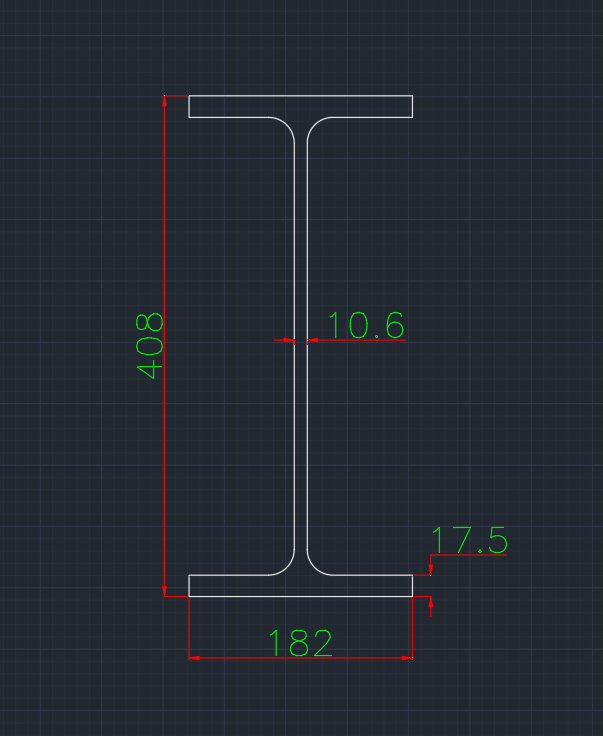 Wide Flange European (IPE-V) In dwg file format for AutoCAD and other 2D Software