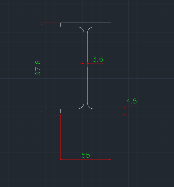 Wide Flange South African (IPE-AA) In dwg file format for AutoCAD and other 2D Software