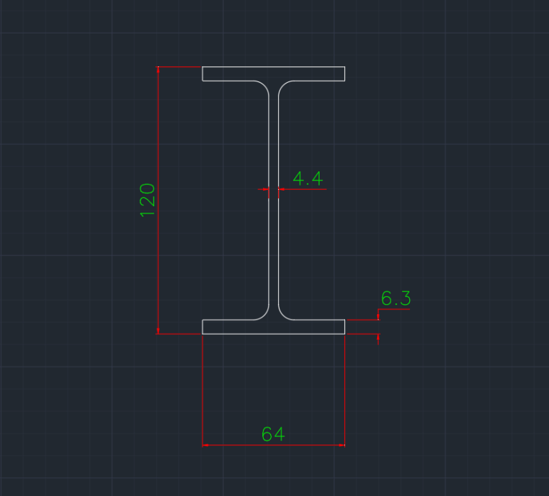 Wide Flange South African (IPE) In dwg file format for AutoCAD and other 2D Software