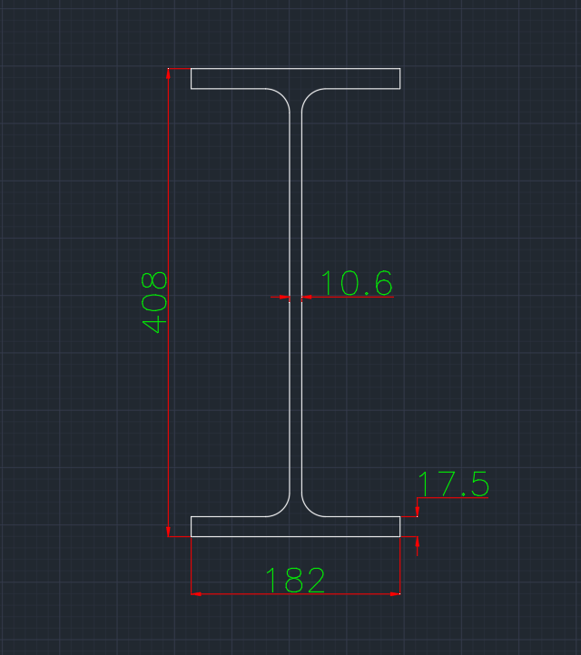 Wide Flange German (IPEV) In dwg file format for AutoCAD and other 2D Software
