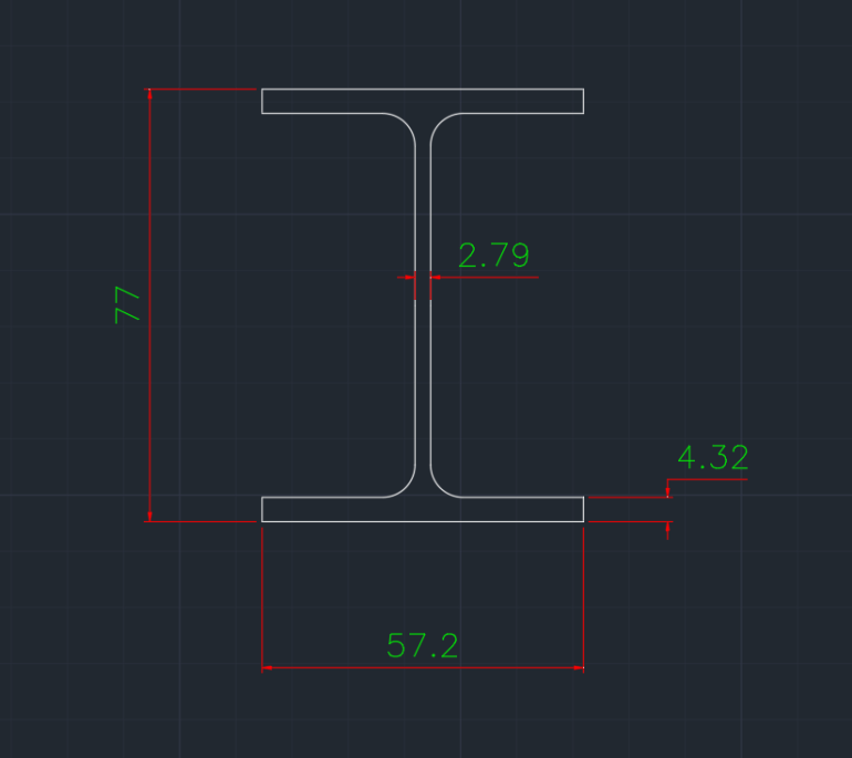 Wide Flange Canadian (SLB) In dwg file format for AutoCAD and other 2D Software