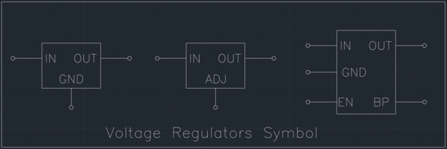 Voltage Regulators Symbol