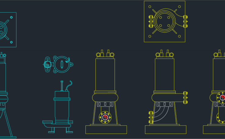 water pump | | CAD Block And Typical Drawing For Designers