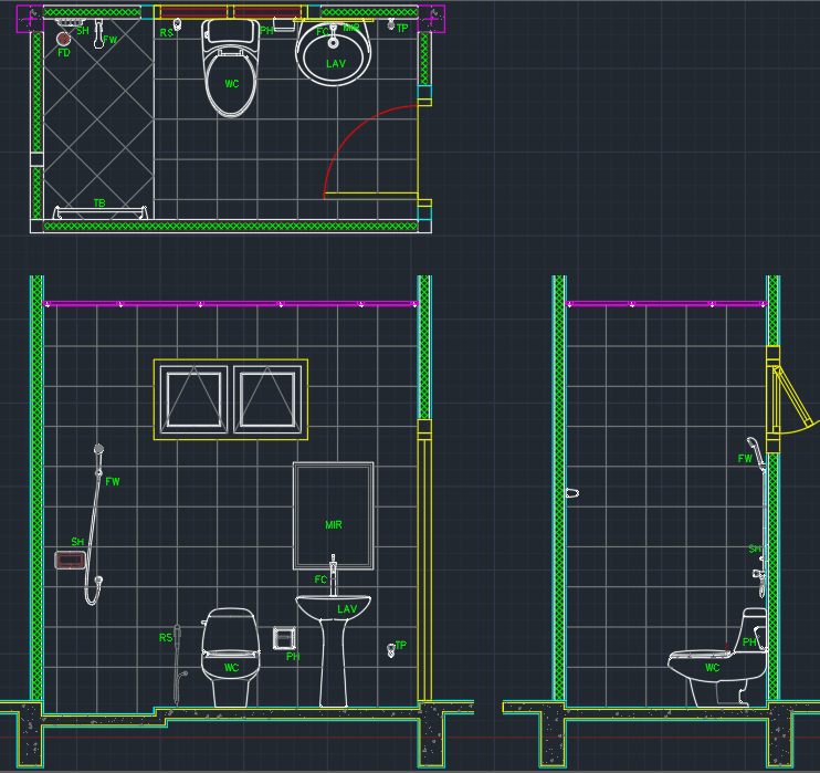 Bathroom Layout | | AutoCAD Free CAD Block Symbol And CAD Drawing