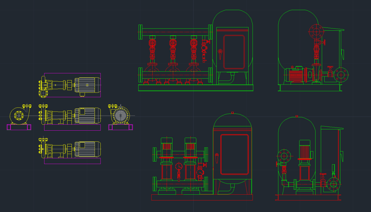 Booster Pump Cad Block And Typical Drawing For Designers