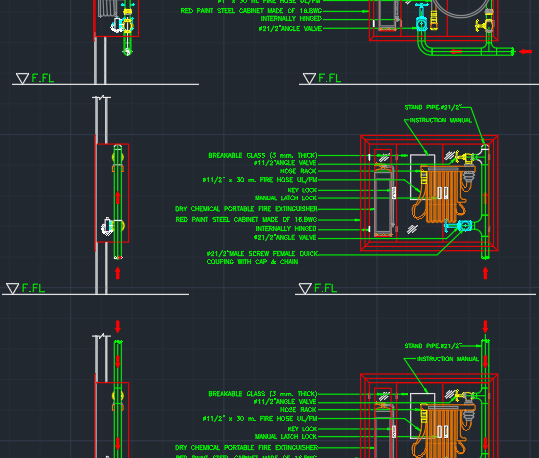 Portable Fire Extinguisher Autocad Free Cad Block