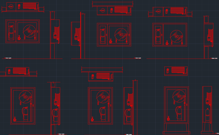 Fire Extinguisher Autocad Free Cad Block Symbol And