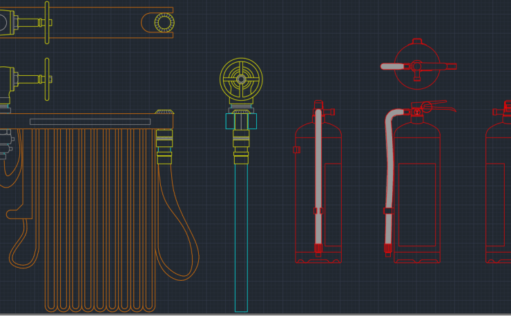 Fire Extinguisher Cad Block And Typical Drawing For